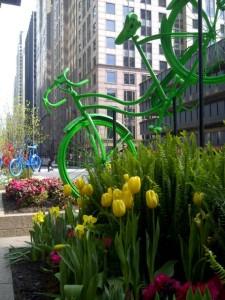 Art Bikes on Franklin Street, Chicago, IL