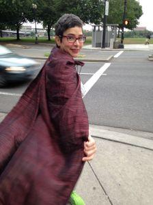 #WDS Rebecca Villarreal in a cape