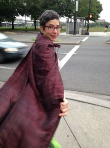 #WDS Rebecca Villarreal in a cape